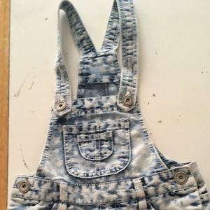 Other - Bleached star patterned overalls